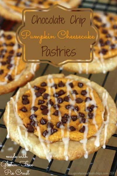 Chocolate Chip Pumpkin Cheesecake Pastries {#glutenfree option} | cupcakesandkalechips.com | #pumpkin #chocolatechips #cheesecake