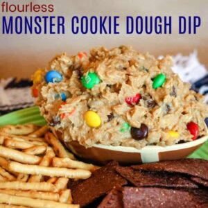 Flourless Monster Cookie Dough Dip square featured image