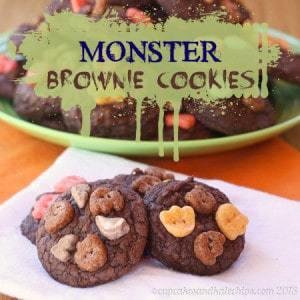 Halloween Monster Brownie Cookies 2 title