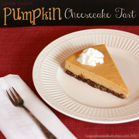Pumpkin Greek Yogurt Cheesecake Tart 5 title
