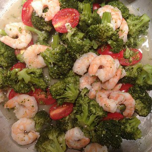 Shrimp broccoli