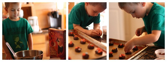 The Bug making Monster Brownie Cookies Collage