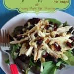 Autumn Turkey & Apple Salads or Wraps for #WeekdaySupper #FamilyDinnerTable