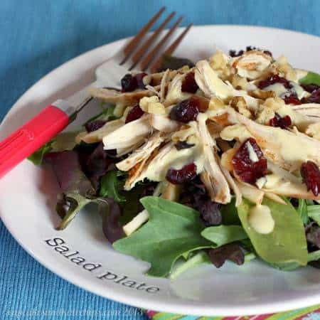 Autumn Turkey & Apple Salads or Wraps | cupcakesandkalechips.com | #salad #turkey #glutenfree