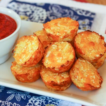 Baked Cauliflower Tater Tots recipe