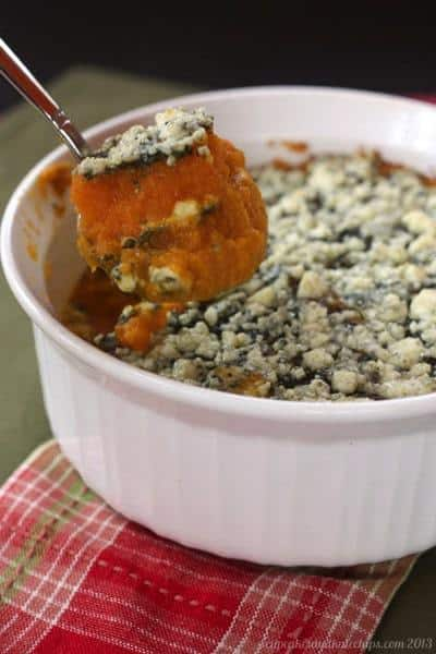 Butternut Squash Gratin with Sage Pesto & Gorgonzola | cupcakesandkalechips.com | #sidedish #glutenfree #vegetarian