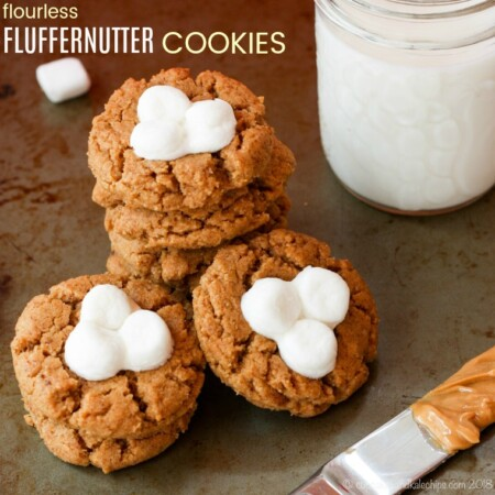 Flourless Fluffernutter Cookies