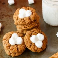 Flourless Fluffernutter Cookies