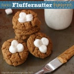 Fluffernutter Flourless Peanut Butter Marshmallow Thumbprint Cookies 3 title
