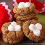 Fluffernutter Flourless Peanut Butter Marshmallow Thumbprint Cookies 5