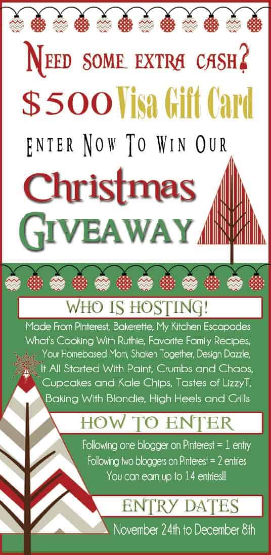 $500 Gift Card Christmas Giveaway contest advertisement