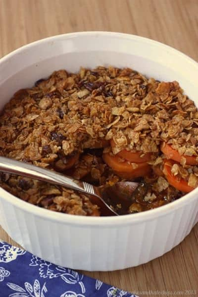 Maple-Glazed Yams With Pecan Topping Recipe — Dishmaps