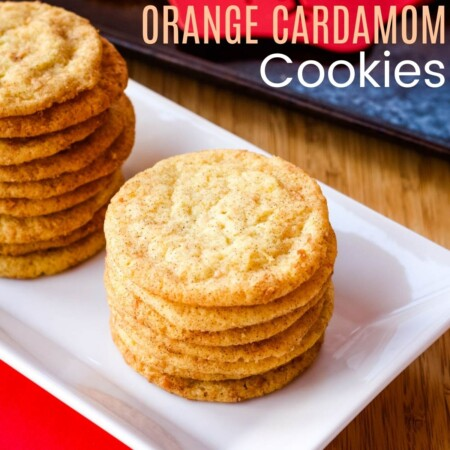 Orange Cardamom Cookies Square featured image with title