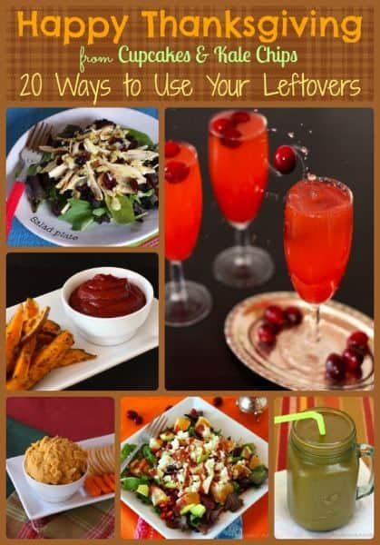 Over 20 Recipes for Thanksgiving Leftovers - use up your turkey, cranberry, pumpkin and potatoes   cupcakesandkalechips.com