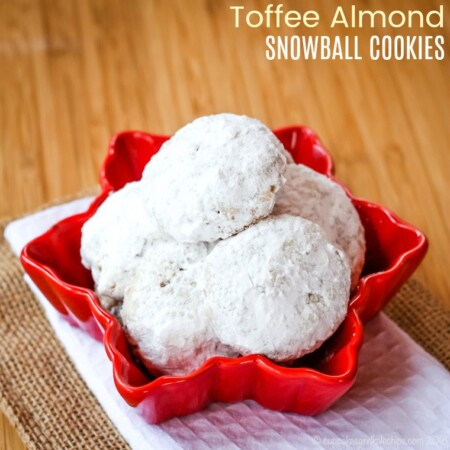 Toffee Almond Snowball Cookie Recipe