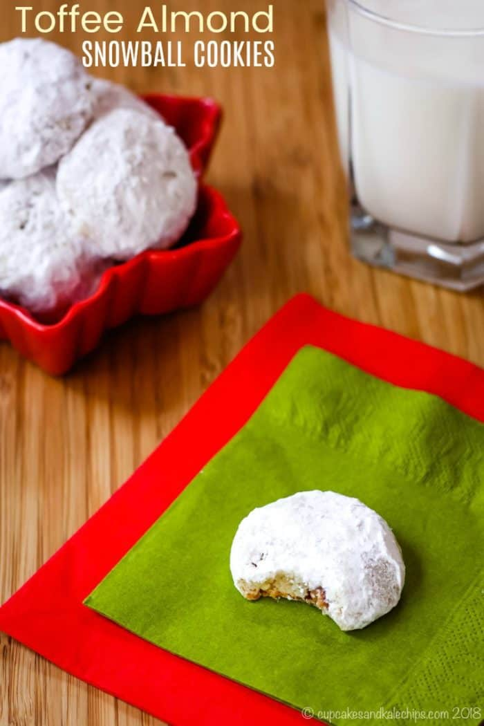 Toffee Almond Snowball Cookies Recipe