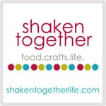 Shaken Together logo with motto of food, crafts, life
