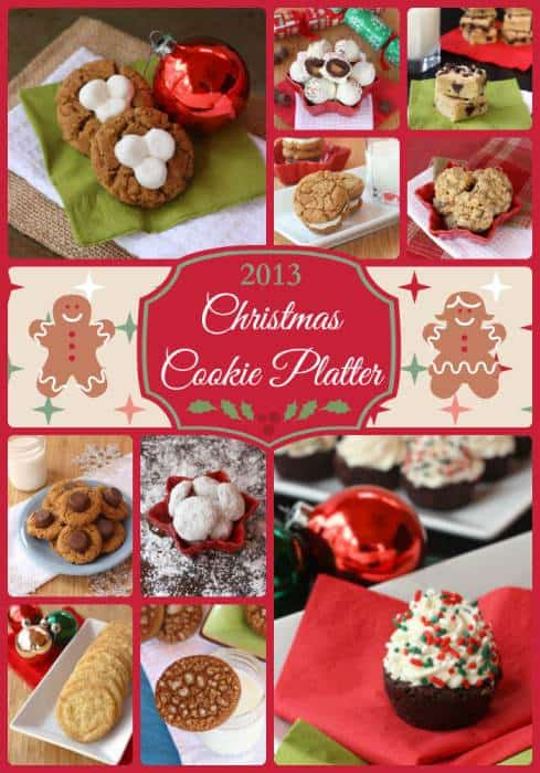 My 2013 Christmas Cookie Platter PLUS a roundup of ten more roundups for a total of well over 900 cookie recipes in all! | cupcakesandkalechips.com