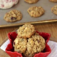 Cranberry Cashew White Chocolate Oatmeal Cookies