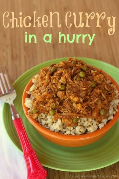 Chicken Curry in a Hurry - Use leftover chicken and veggies, along with Indian spices, to make this quick and easy gluten free dinner! | cupcakesandkalechips.com |