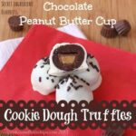 Chocolate Peanut Butter Cup Cookie Dough Truffles for #ChristmasWeek
