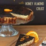 Dark Chocolate Orange Ricotta Tart with Honey Almond Crust for #ChristmasWeek and a #CakeBossBaking #Giveaway