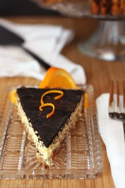 Dark Chocolate Orange Ricotta Tart with Honey Almond Crust | cupcakesandkalechips.com | #grainfree #glutenfree #dessert