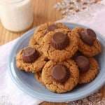 Flourless Double Peanut Butter Cup Blossom Cookies 5