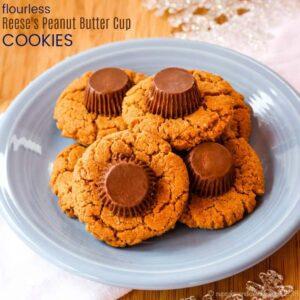 Flourless Reese's Peanut Butter Cookies