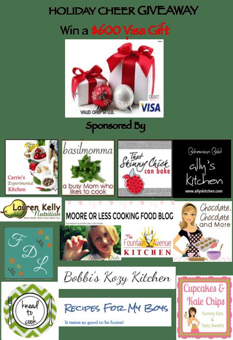 Holiday Cheer $600 Visa Give Card Giveaway | cupcakesandkalechips.com