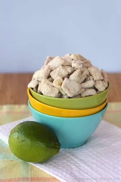 Key Lime Pie Muddy Buddies | cupcakesandkalechips.com | #muddybuddies #puppychow #keylimepie