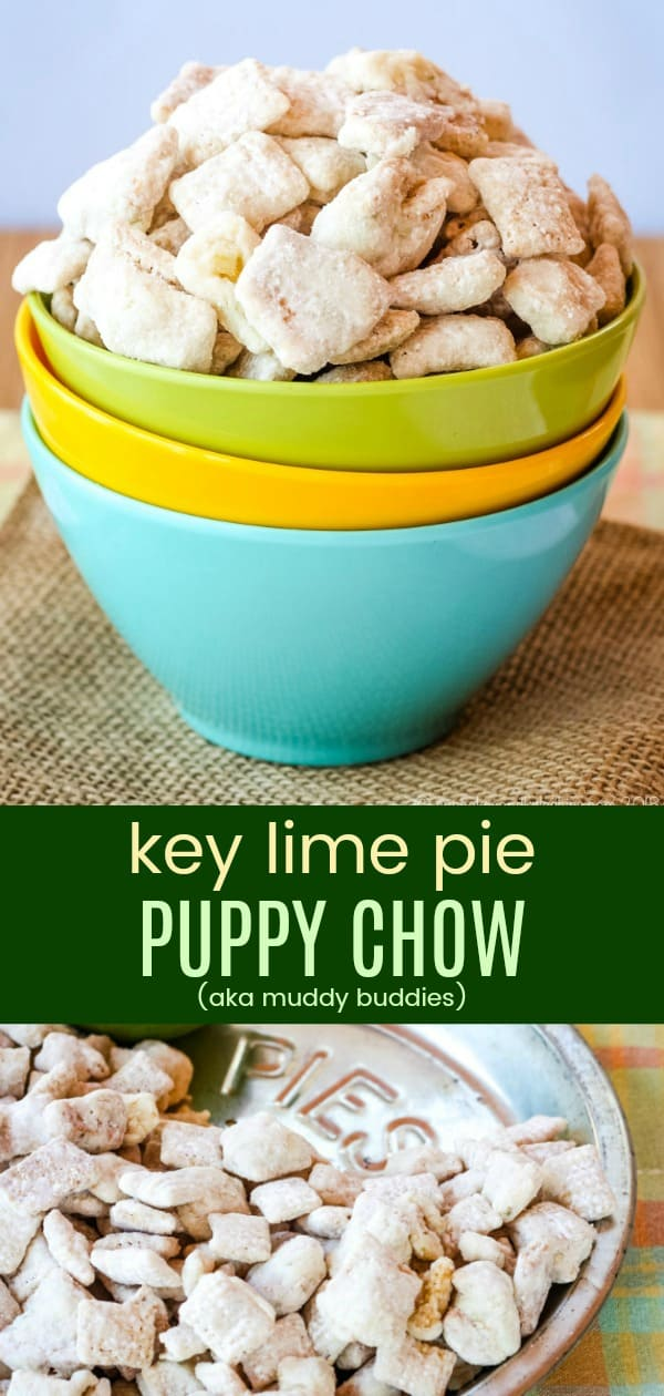 Key Lime Pie Puppy Chow Collage