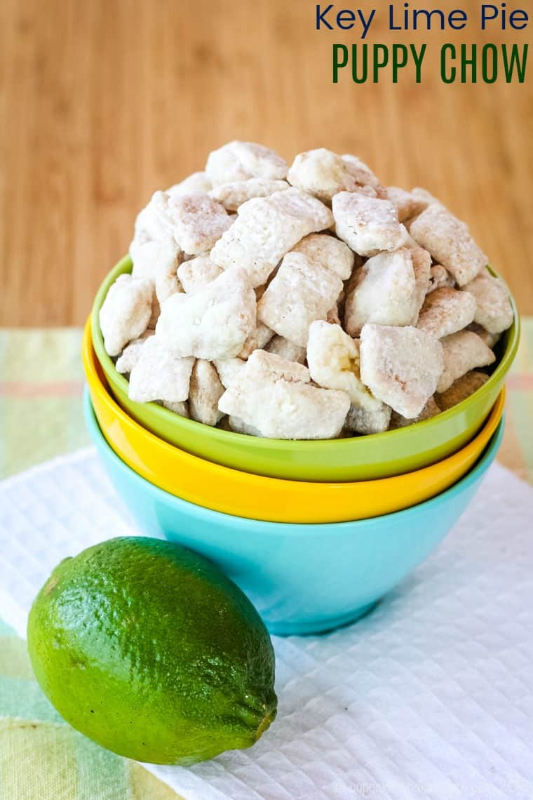 Key Lime Pie Puppy Chow Muddy Buddies