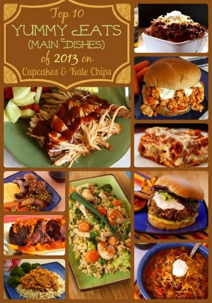 Top 10 Yummy Eats (Main Dishes) of 2013 on Cupcakes & Kale Chips | cupcakesandkalechips.com | #dinner #slowcooker #glutenfree