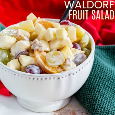 Waldorf Fruit Salad Recipe featured image with title