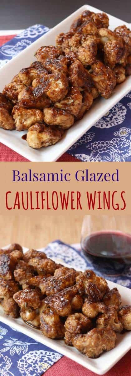 "Balsamic Glazed Cauliflower ""Wings"" - a fun veggetable side dish or appetizer recipe that vegans and carnivores alike will devour. | cupcakesandkalechips.com | gluten free, vegetarian, vegan"
