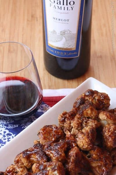 "Balsamic Glazed Cauliflower ""Wings"" 