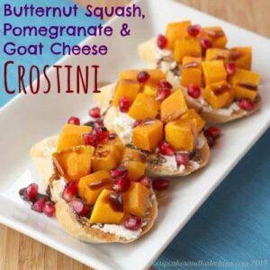 Butternut Squash, Pomegranate and Goat Cheese Crotini