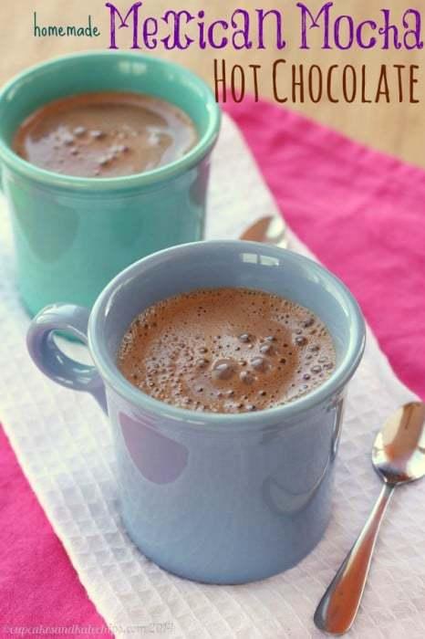 Homemade Mexican Mocha Hot Chocolate   cupcakesandkalechips.com   #hotchocolate #cocoa #glutenfree #vegan