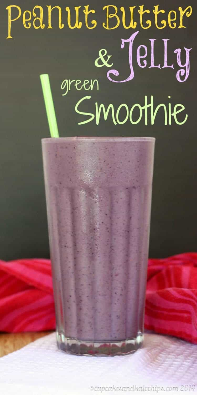 Peanut Butter and  Jelly Green Smoothie Recipe