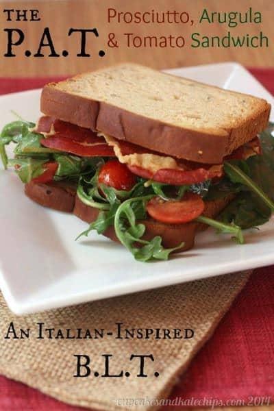 The P.A.T - Prosciutto, Arugula & Tomato Sandwich (an Italian-inspired BLT) | cupcakesandkalechips.com | #blt #bacon #glutenfree
