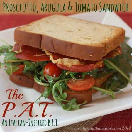 The P.A.T - Prosciutto, Arugula & Tomato Sandwich (an Italian-inspired BLT) | cupcakesandkalechips.com | #blt #bacon #glutenfree