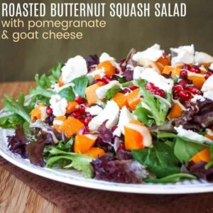 Plate of butternut squash salad