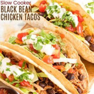 Three chicken tacos