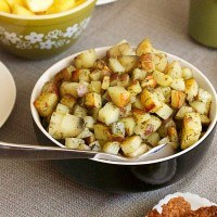 Baked Dill Hash Brown Potatoes - easy vegan hashbrowns recipe