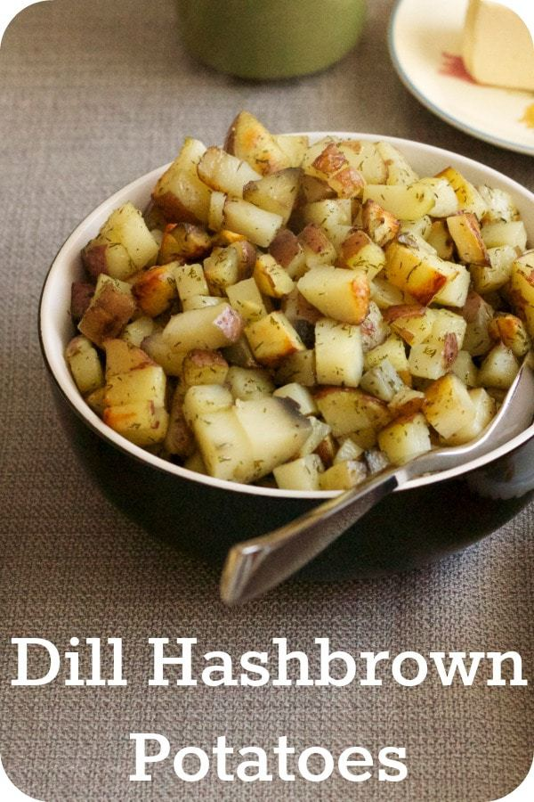 Baked Dill Hashbrown Potatoes | cupcakesandkalechips.com | #breakfast #brunch #sidedish #vegan #glutenfree