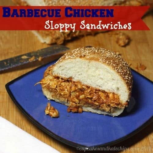 Barbecue Chicken Sloppy Sandwiches | cupcakesandkalechips.com | #sandwich #tailgate