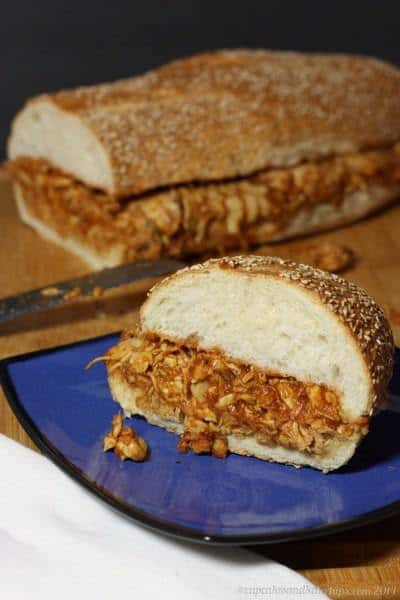 Barbecue Chicken Sloppy Sandwiches   cupcakesandkalechips.com   #sandwich #tailgate