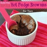 Deep Dish Hot Fudge Gluten Free Brownies for Two