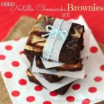Flourless Nutella Cheesecake Swirl Brownies